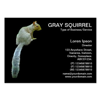 Squirrel - Black Large Business Cards (Pack Of 100)
