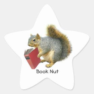 Squirrel Book Nut Sticker