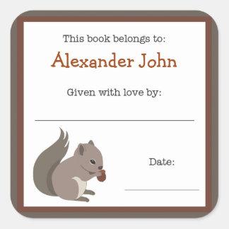Squirrel book plate - Forest Animals bookplate
