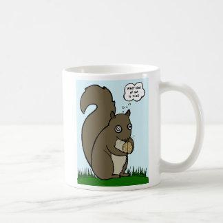 """Squirrel & """"Brain Nut"""" Mug"""