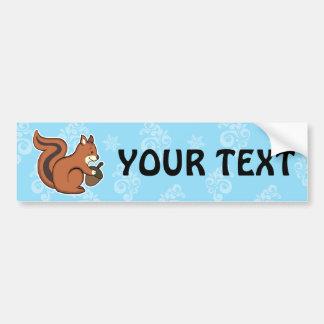 Squirrel bumper sticker car bumper sticker