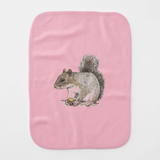 Squirrel Burp Cloth