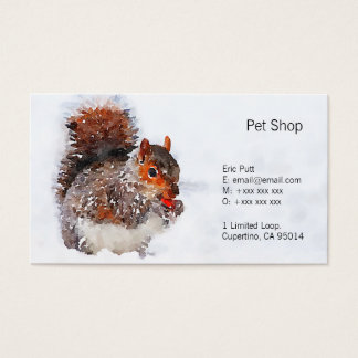 "Squirrel Business Cards, 3.5"" x 2.0"", 100 pack Business Card"