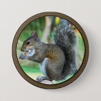 Squirrel Buttons with Acorn Border