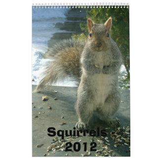 Squirrel Calendar 2012