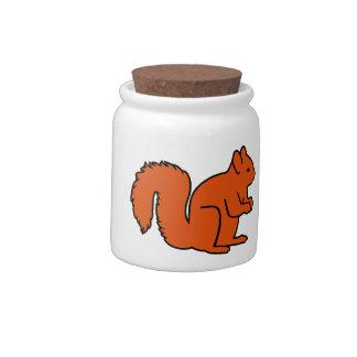 Squirrel Candy Jar