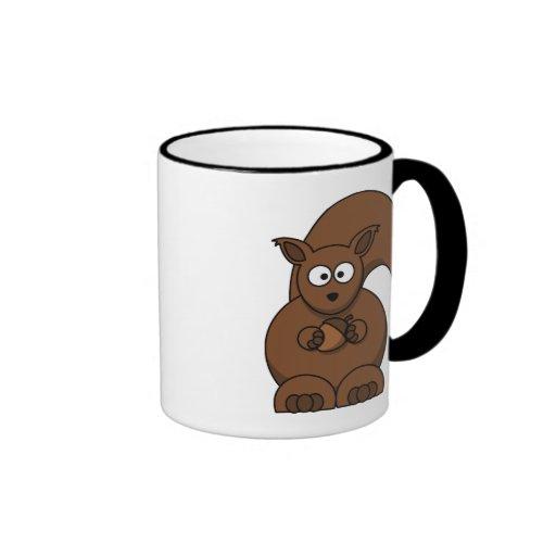 Squirrel cartoon mug