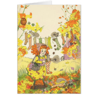 """''Squirrel Catcher Suprise"""" By Christina Siravo Greeting Card"""