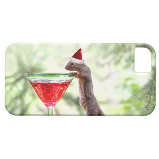 Squirrel Celebrating Christmas iPhone SE/5/5s Case