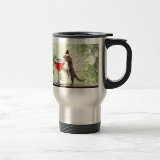 Squirrel Celebrating Christmas Travel Mug