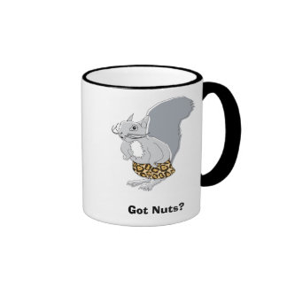 Squirrel Character   Got Nuts? Ringer Coffee Mug