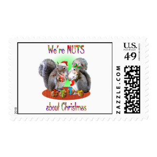 Squirrel Christmas Nuts Postage