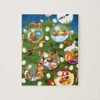 Squirrel Christmas Tree Jigsaw Puzzle