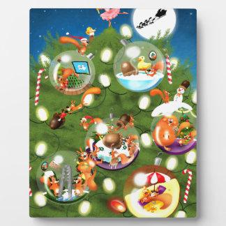 Squirrel Christmas Tree Plaques