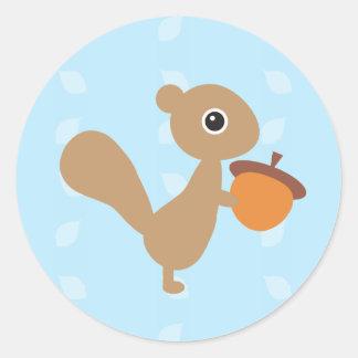 Squirrel! Classic Round Sticker