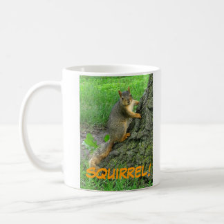 SQUIRREL! CLASSIC WHITE COFFEE MUG