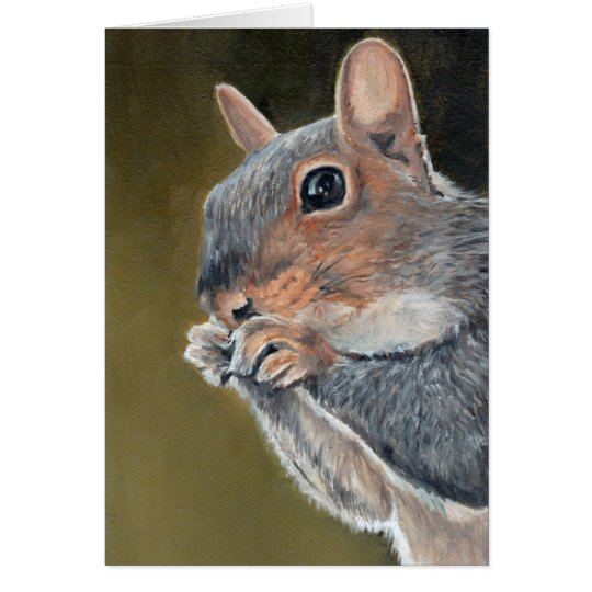 Squirrel Close Up Animal Art Note Card