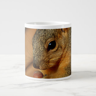 Squirrel Closeup with Nut Giant Coffee Mug