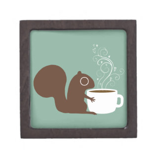 Squirrel Coffee Lover Gift Box