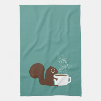 Squirrel Coffee Lover Kitchen Towels