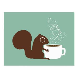 Squirrel Coffee Lover Postcard
