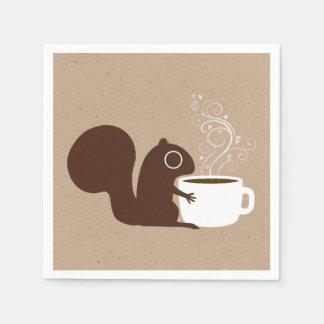 Squirrel Coffee Lover Standard Cocktail Napkin