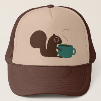 Squirrel Coffee Lover Trucker Hat