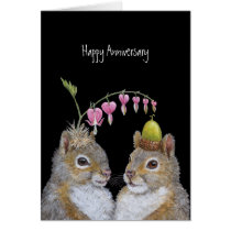 Squirrel couple anniversary card