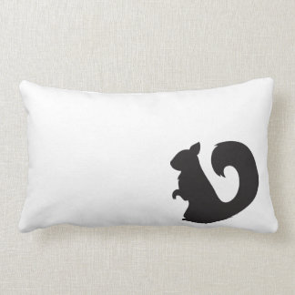 Squirrel critter woodland animal black silhouette pillow