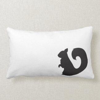 Squirrel critter woodland animal black silhouette throw pillows
