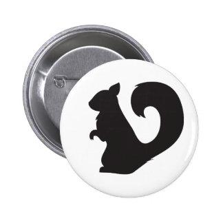 Squirrel critter woodland silhouette graphic 2 inch round button