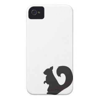 Squirrel critter woodland silhouette graphic Case-Mate iPhone 4 case