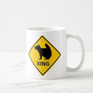 Squirrel Crossing Highway Sign Coffee Mug