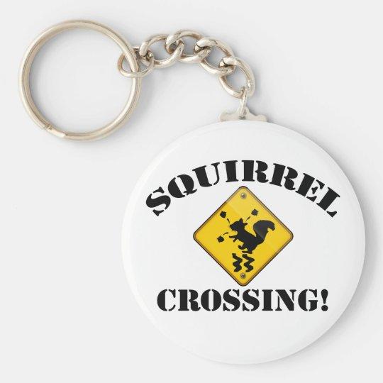 Squirrel Crossing Keychain