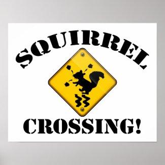 Squirrel Crossing Road Sign