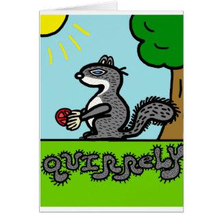 Squirrel cute cartoon blank greeting card