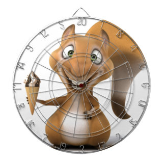squirrel design dart board