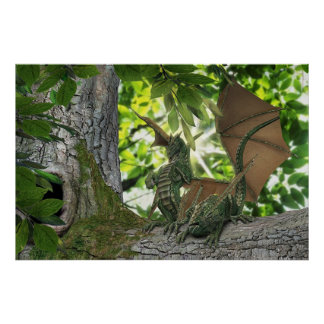 Squirrel Dragons Print