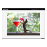 Squirrel Drinking a Cocktail at Happy Hour Decal For Laptop