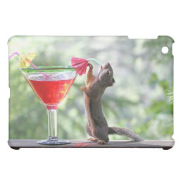 Squirrel Drinking a Cocktail at Happy Hour iPad Mini Cases