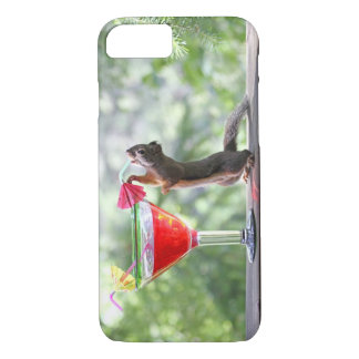 Squirrel Drinking a Cocktail at Happy Hour iPhone 7 Case