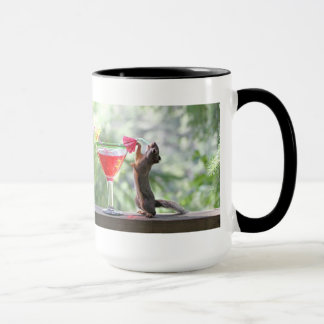 Squirrel Drinking a Cocktail at Happy Hour Mug