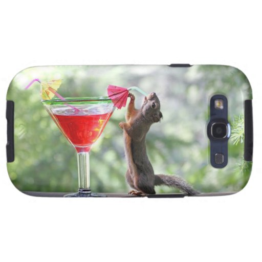 Squirrel Drinking a Cocktail at Happy Hour Samsung Galaxy SIII Covers