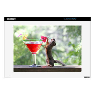 """Squirrel Drinking a Cocktail at Happy Hour Skin For 15"""" Laptop"""
