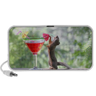 Squirrel Drinking a Cocktail at Happy Hour Notebook Speaker