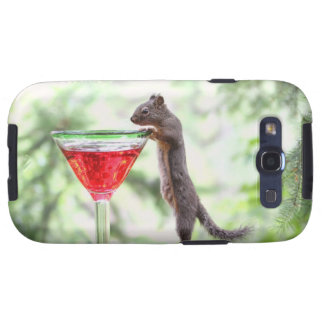 Squirrel Drinking a Cocktail Samsung Galaxy S3 Covers