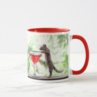 Squirrel Drinking a Cocktail Mug