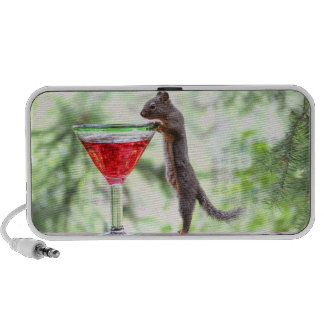 Squirrel Drinking a Cocktail Mp3 Speakers