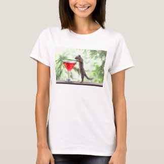 Squirrel Drinking a Cocktail T-Shirt