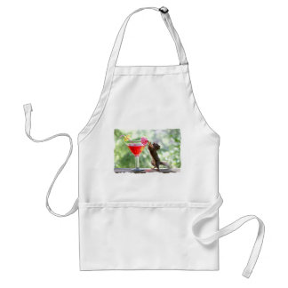 Squirrel Drinking Cocktail Adult Apron